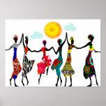 African Praise Dance Print