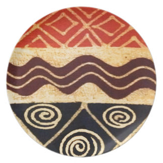 African Primordial Decor Plate
