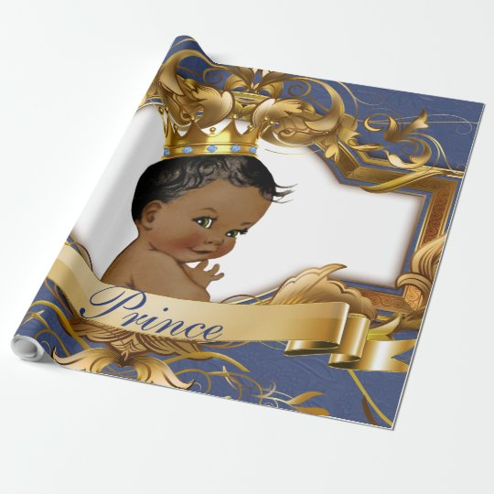African Prince Royal Baby Shower Gift Wrapping Wrapping