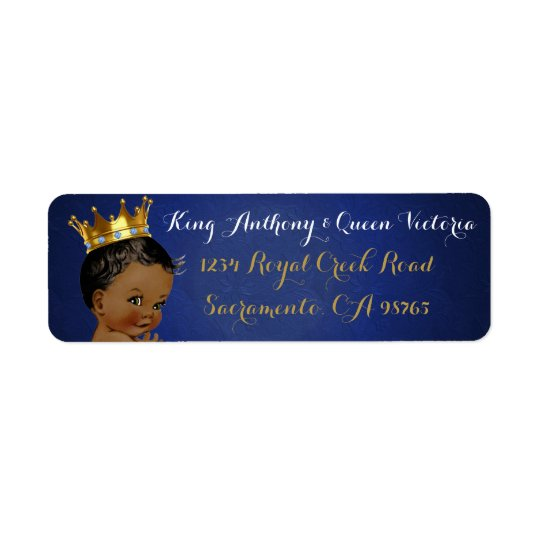 African Prince Royal Baby Shower Mailing Labels