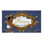 African Prince Royal Baby Shower Poster/Sign Poster