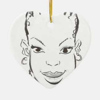 African princess. ceramic heart decoration