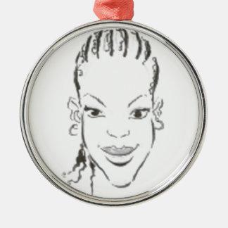 African Princess Christmas Ornament