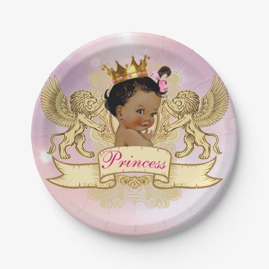 African Princess Royal Baby Shower Plates
