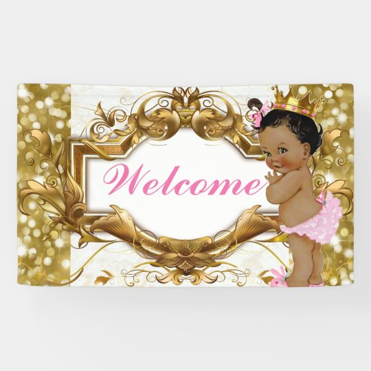 African Princess Royal Baby Shower Welcome Banner