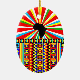 African Print Kente Cloth Tribal Pattern Ankara Christmas Ornament