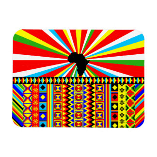 African Print Kente Cloth Tribal Pattern Ankara Rectangular Photo Magnet