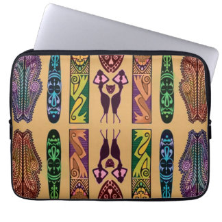 African Print Laptop Case