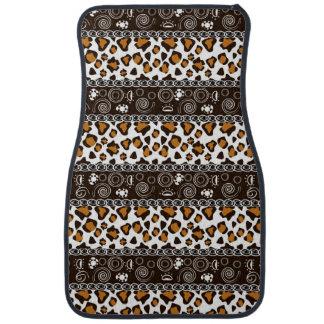 African print with cheetah skin pattern car mat