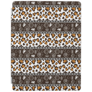 African print with cheetah skin pattern iPad cover