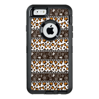 African print with cheetah skin pattern OtterBox defender iPhone case