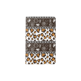 African print with cheetah skin pattern pocket moleskine notebook