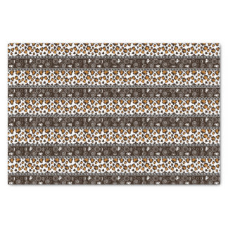 African print with cheetah skin pattern tissue paper