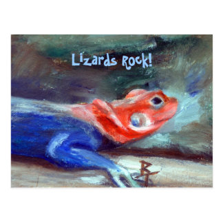 African Rainbow Lizard Postcard