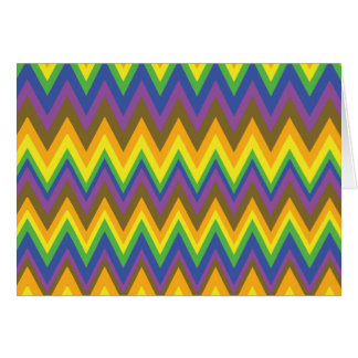 African Rainbow Zig Zag Designs Greeting Card