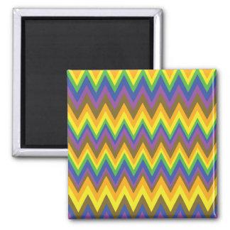 African Rainbow Zig Zag Designs Refrigerator Magnet