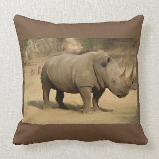 African Rhino Cushion