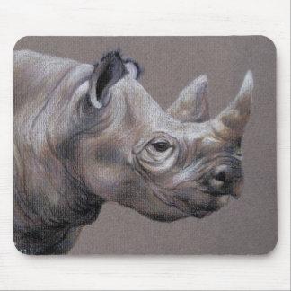 African Rhino Drawing Mousepad