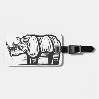 African Rhino Luggage Tag