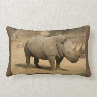 African Rhino Lumbar Cushion