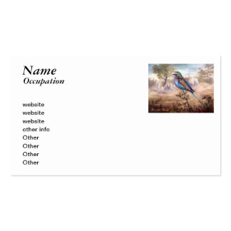 African Roller Business Card Templates