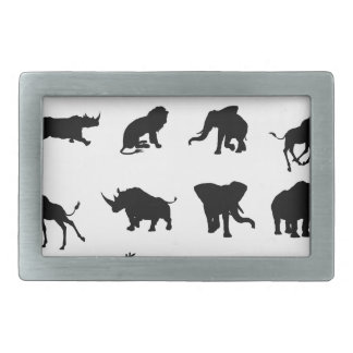 African Safari Animal Silhouettes Belt Buckle