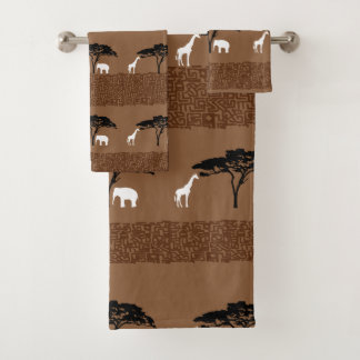 African Safari Bath Towel Set