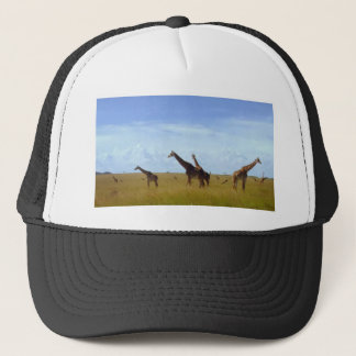 African Safari Giraffes Cap