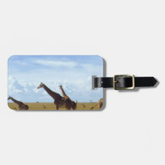 African Safari Giraffes Luggage Tag