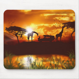 African Safari in the Jungle Mouse Pad