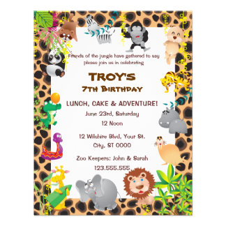 African Safari Kid s Birthday Party Invitation