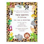 African Safari Kid's Birthday Party Invitation 11 Cm X 14 Cm Invitation Card