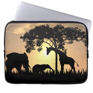 African safari laptop sleeve