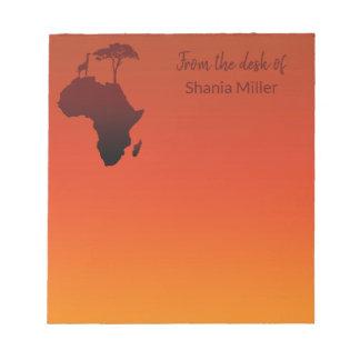 African Safari Map - Notepad