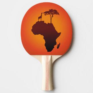 African Safari Map - Ping Pong Paddle