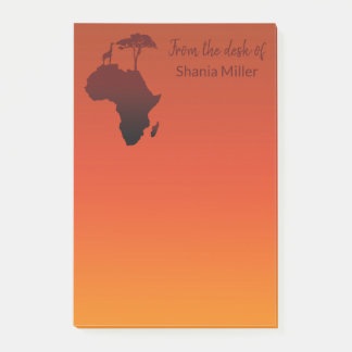 African Safari Map - Post-it® Notes