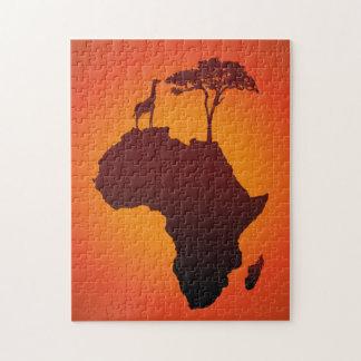 African Safari Map - Puzzle