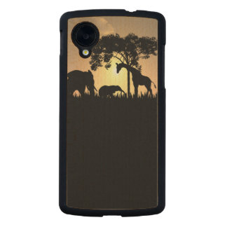 African Safari Silhouette Google nexus 5 case Carved® Maple Nexus 5 Case