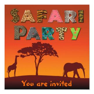 African Safari Silhouette Party - Invitation