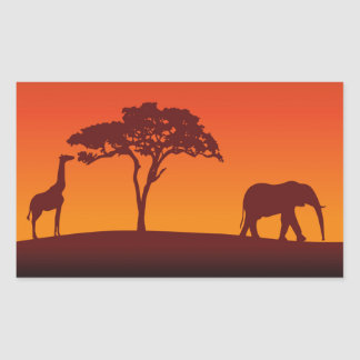 African Safari Silhouette - Sticker