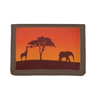 African Safari Silhouette - Wallet