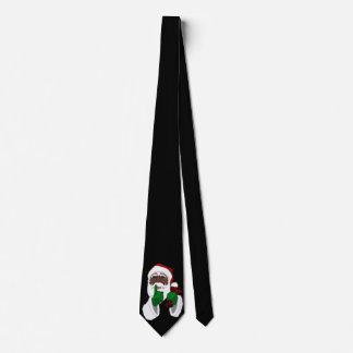 African Santa Clause Tie Christmas Santa Neckties