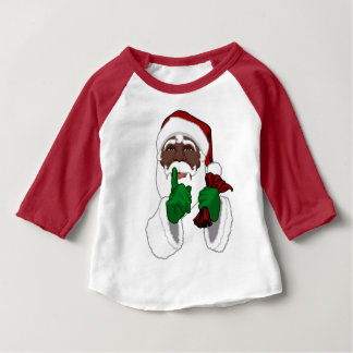 African Santa Shirt Baby Black Santa Jersey