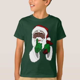 African Santa Shirt Kid's Black Santa T-Shirts