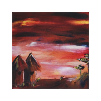 African scene art (Irepodun) Canvas Print