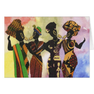 African Signers Greeting Card
