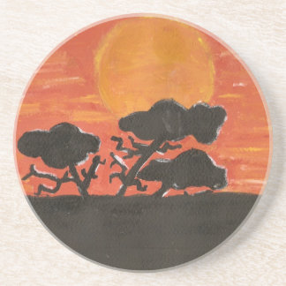 african silohuette coaster