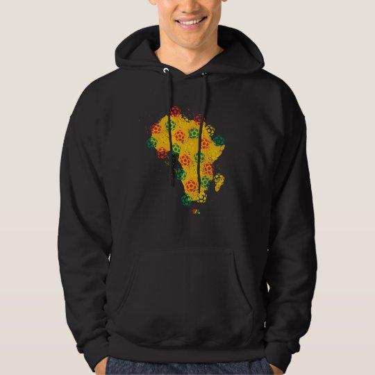 African Soccer - Black Hoodie