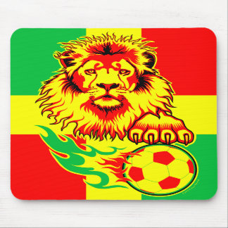 African Soccer Lion mousepad