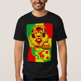 African Soccer Lion Tee Shirt